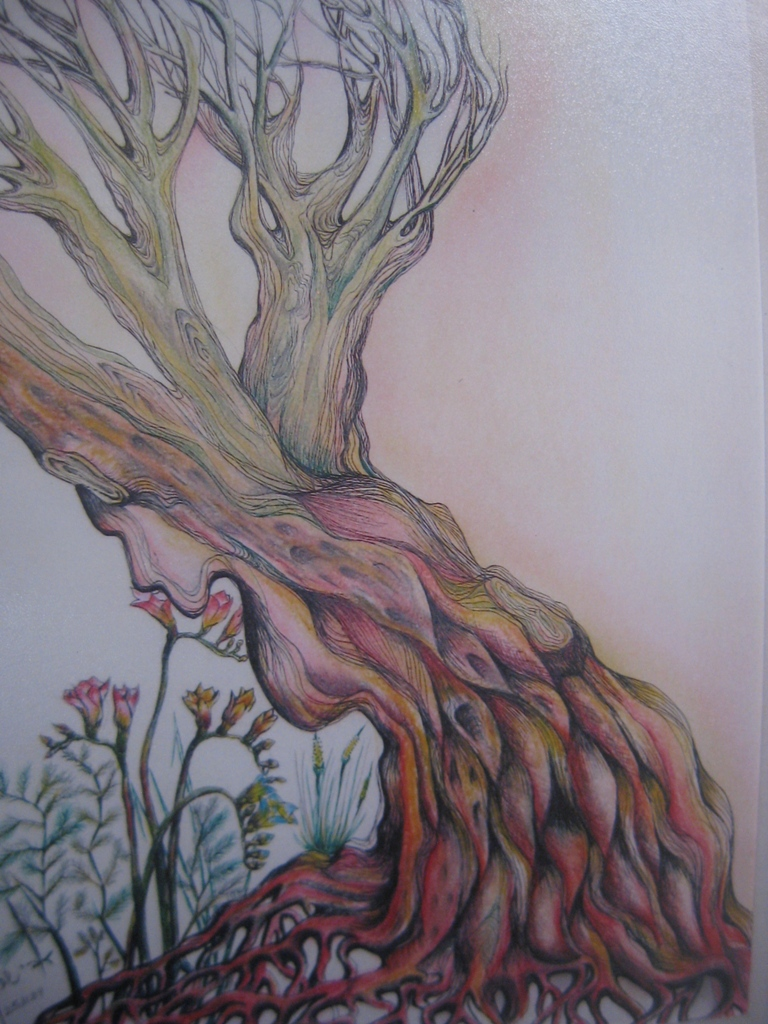 Mother Earth  H 53 cm x  W 35 cm  Colored Pencils & Ink