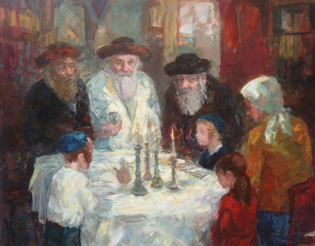 Kiddush   Oil  W 76 cm  x H 61 cm     SOLD