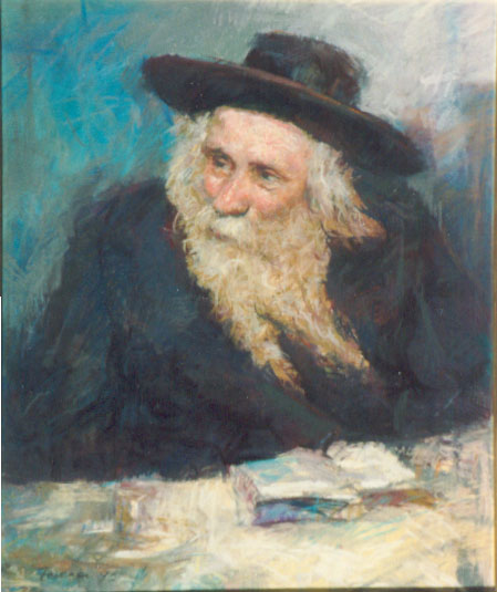 Rabbi of Klausenburg    Pastel   W 51 cm  x H 61 cm